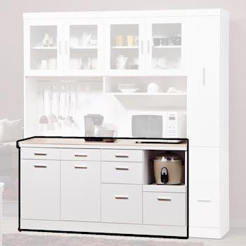【顛覆設計】西莉亞5.3尺石面餐櫃下座(純白色)