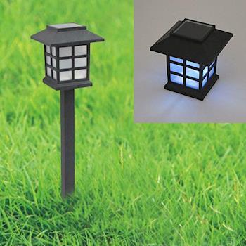 月陽古典太陽能充電式自動光控開關LED庭園燈草坪燈插地燈(5025)