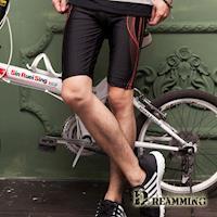 【Dreamming】時尚曲線運動彈力緊身抽繩短褲(共二色)
