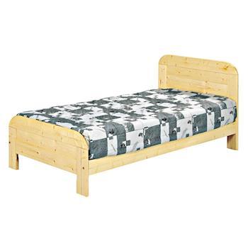 【AB】松木實木3.5尺單人床架(不含床墊)