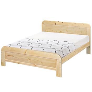 【顛覆設計】奧汀松木實木5尺雙人床架(不含床墊)