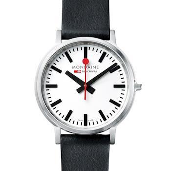 MONDAINE 瑞士國鐵stop2go經典腕錶-40mm/白 512816
