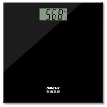 台灣三洋SANLUX 數位家用體重計 SYES-301 (黑/白) 買就送手機扣環