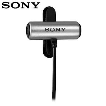 索尼Sony原廠立體聲有線領夾式麥克風可360度回轉全指向麥克風ECM-CS3 (線長1公尺)