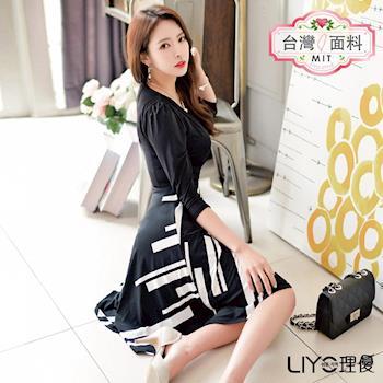 【LIYO理優】MIT印花拼接洋裝E636016