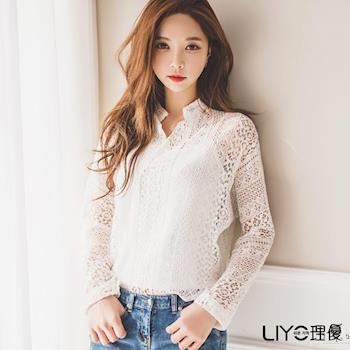 【LIYO理優】立領簍空蕾絲上衣-附小可愛L715005