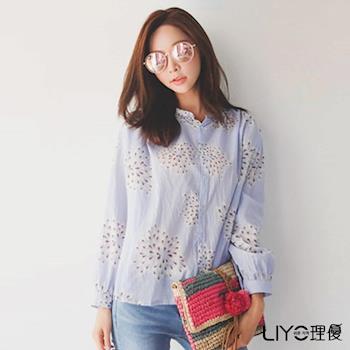 【LIYO理優】立領印花襯衫L715006