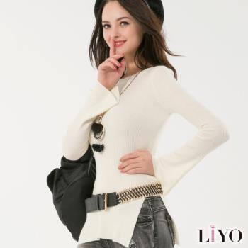 【LIYO理優】開衩造型寬袖針織上衣E637012