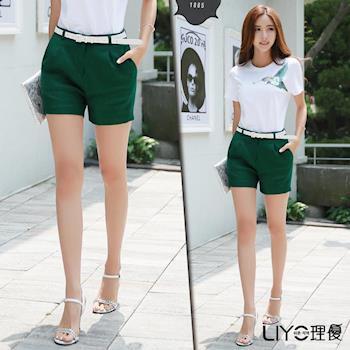 【LIYO理優】素色質感西裝短褲E711001