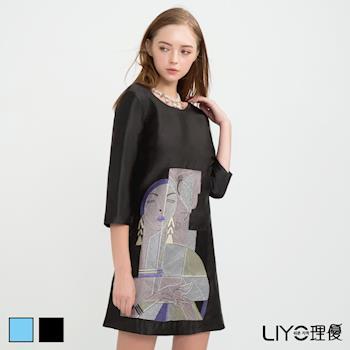 【LIYO理優】歐風後背蝴蝶結刺繡洋裝O736001