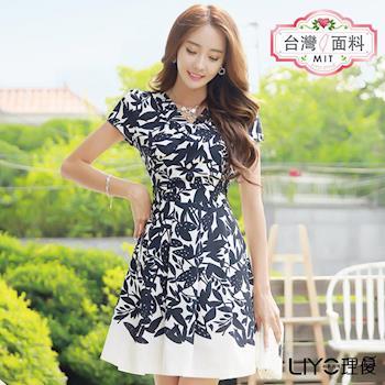 【LIYO理優】MIT印花公主袖洋裝E716012