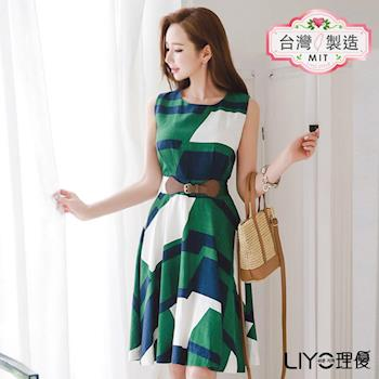【LIYO理優】MIT幾何印花洋裝E726015