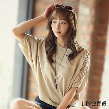 【LIYO理優】蕾絲拼接寬鬆上衣E725010