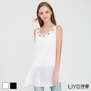 【LIYO理優】鉚釘無袖針織背心E737006