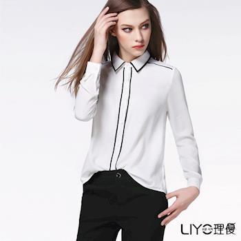 【LIYO理優】歐風線條雪紡襯衫 O635006