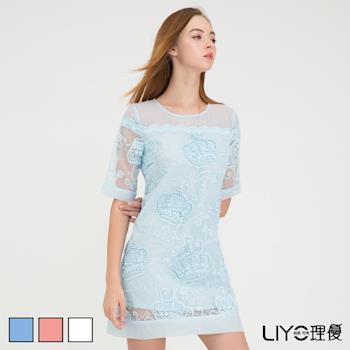 【LIYO理優】LIYO理優歐風圖案蕾絲洋裝O636007