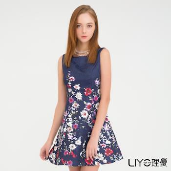【LIYO理優】印花收腰無袖洋裝O726003