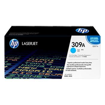 《印象深刻3C》HP 309A 原廠藍色碳粉匣 Q2671A 適用 HP CLJ 3500/3550(4,000張) 雷射印表機