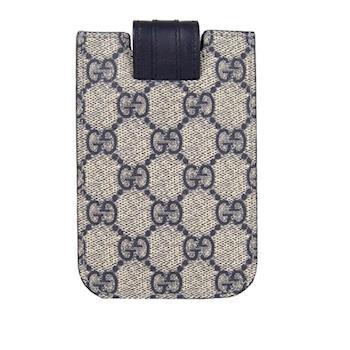GUCCI PVC GG LOGO IPHONE套 手機(海軍藍色) 240188 FCIFN 4075