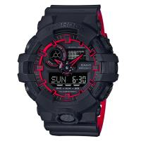 【CASIO】G-SHOCK 街頭創新螢光元素設計休閒錶-紅線圈 (GA-700SE-1A4)