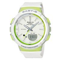 【CASIO】BABY-G 陽光系運動女孩計步錶-檸檬水 (BGS-100-7A2)