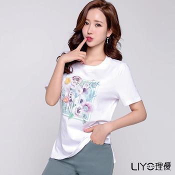 【LIYO理優】釘珠印花T恤E722045