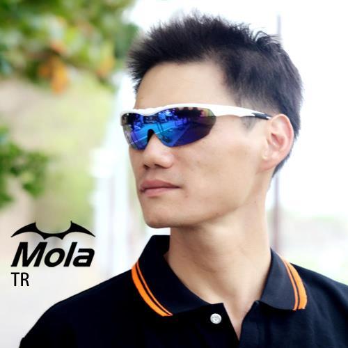 MOLA SPORTS 摩拉運動太陽眼鏡 彩色多層膜頂級鏡片 超輕量 自行車 跑步 棒球 TR-wrb