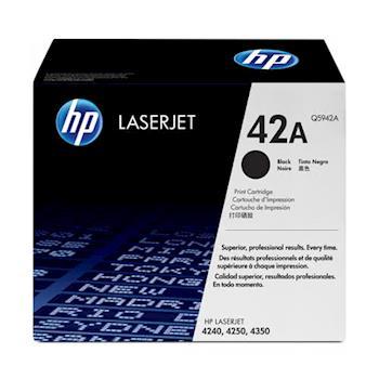 《印象深刻3C》 HP 42A 原廠碳粉匣 Q5942A  (10,000張) 適用 HP LJ 4250/4350(10,000張) 雷射印表機