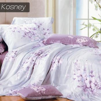 【KOSNEY】愛如潮水  雙人100%天絲TENCEL四件式兩用被床包組