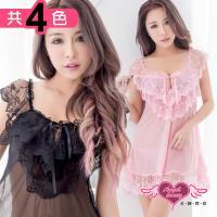 天使霓裳性感睡衣 甜味浪漫 層次蕾絲連身睡衣(共三色F) TU0920