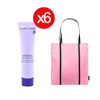 LANCOME 蘭蔻 超緊顏5D抗皺活化乳15ml  保養抗皺6件組 超值加碼化妝包
