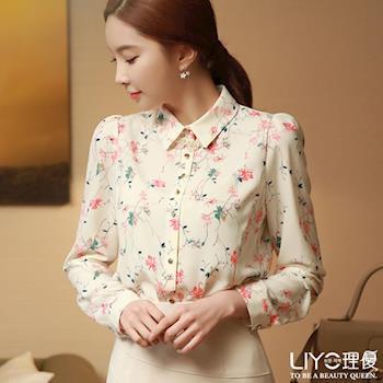【LIYO理優】花朵印花雪紡襯衫E635001