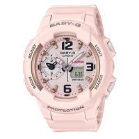 【CASIO】BABY-G 引領潮流系列粉嫩時尚休閒錶-粉紅色 (BGA-230SC-4B)