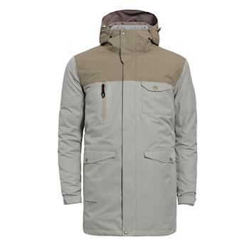 【hilltop山頂鳥】男款GoreTex兩件式防水羽絨長大衣F21M49-灰