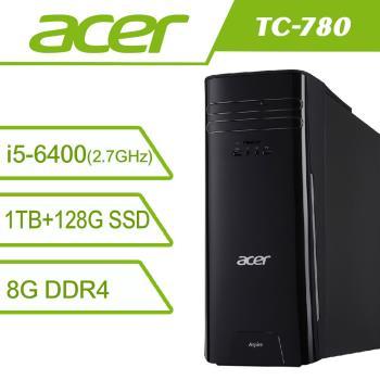 ACER 宏碁 TC-780 Ci5-6400/8G/1TB+128G-SSD/Nvidia GT720 2GB /W10 桌上型電腦