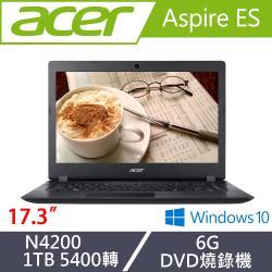 ACER 宏碁 ES1-732-P15K (PQCN4200 GTX W10 黑)OB2GBIIIL+SO4GBIIIL/N1000G 筆記型電腦