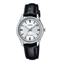 【CASIO】經典淑女時裝時尚指針真皮腕錶-白面 (LTP-V005L-7A)