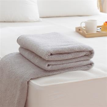 HO KANG 吸濕透氣毛巾被 台灣製-灰