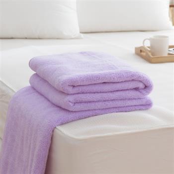 HO KANG 吸濕透氣毛巾被 台灣製-紫