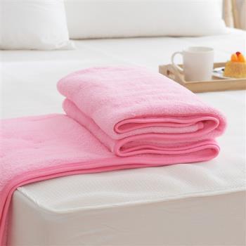 HO KANG 吸濕透氣毛巾被 台灣製-粉