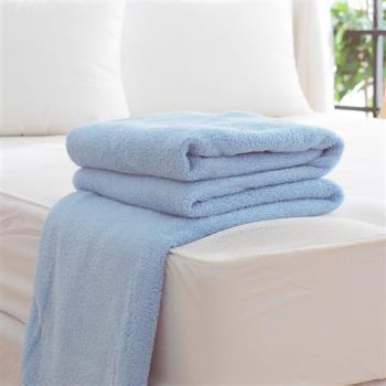 HO KANG 吸濕透氣毛巾被 台灣製-藍