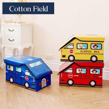 棉花田 Bus咘咘 立體汽車造型摺疊收納凳-3色可選