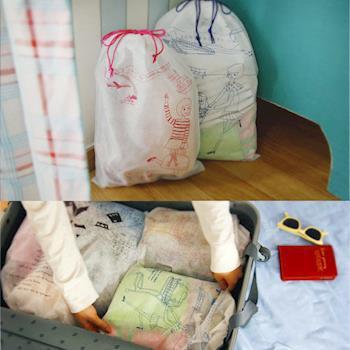iSFun旅行專用 不織布束口袋7入