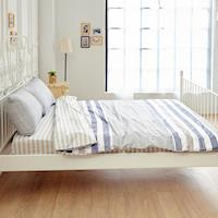BELLE VIE 精梳純棉 單人床包被套三件組 格林物語-米 台灣製