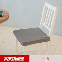 【凱蕾絲帝】台灣製造 久坐專用二合一高支撐記憶聚合紓壓坐墊(2色可選)
