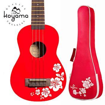 Koyama 紅色扶桑花 21吋烏克麗麗
