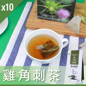 Mr.Teago 雞角刺茶/養生茶-3角立體茶包(22包/袋)x10袋/組