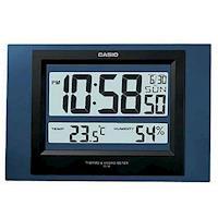 【CASIO】溫溼度電子掛鐘-藍 (ID-16S-2)