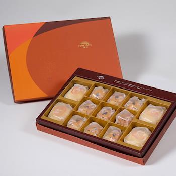 漢坊【御藏】綜合13入禮盒★綠豆椪*2+純綠豆椪*2+金韻蛋黃酥*9(2盒)