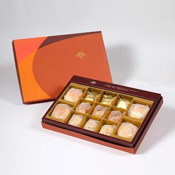 漢坊 御藏禮盒-2盒組(金韻蛋黃酥+綠豆小月餅 綜合13入)